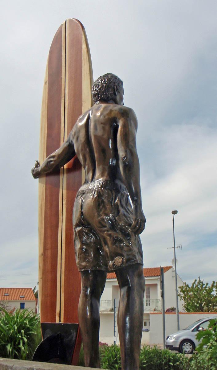 surfeur en bronze
